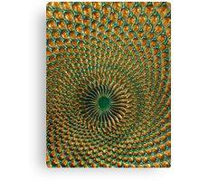Peacock Plate Canvas Print