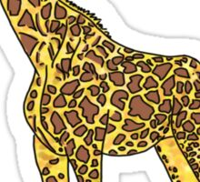 lovely giraffe illustration Sticker