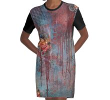 Time Graphic T-Shirt Dress