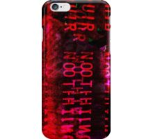 Our Nothing - Glitch Art (Bloody Mess) iPhone Case/Skin