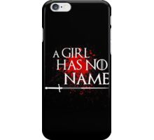 A Girl Has No Name (blood splatter) iPhone Case/Skin