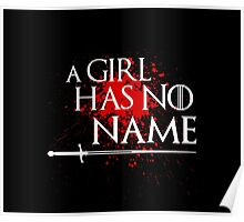 A Girl Has No Name (blood splatter) Poster