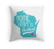 Home is Hartland Throw Pillow