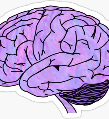 purple pink blue brain Sticker