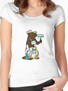 Painter Groundhog Women's Fitted Scoop T-Shirt