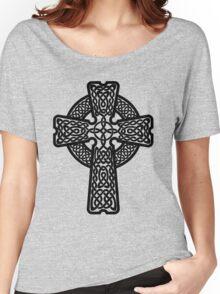 Celtic Cross in black Women's Relaxed Fit T-Shirt