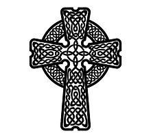 Celtic Cross in black Photographic Print