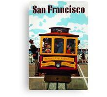 Vintage San Francisco Travel Poster - Stan Galli c 1957 Canvas Print
