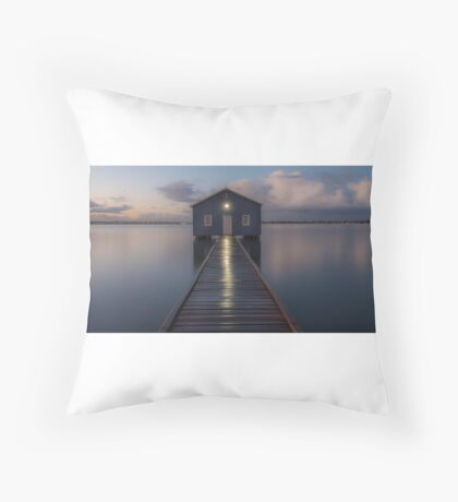 crawley boat shed Throw Pillow