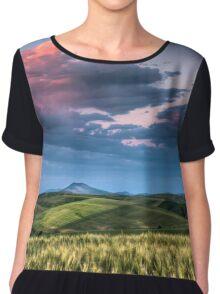 Palouse Storm at Sunset Chiffon Top