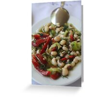 Turkish Meze Piyaz  Greeting Card