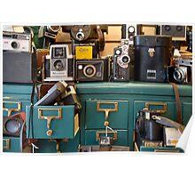 Retro Cameras Poster