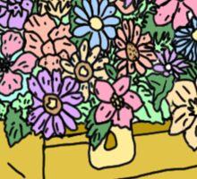 flowers in treasure chest Sticker