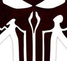 Mandalorian Punisher Blood Sticker