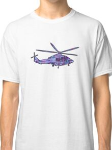 purple and blue helicopter Classic T-Shirt