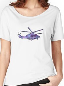 purple and blue helicopter Women's Relaxed Fit T-Shirt