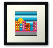 Colorful urban summer Framed Print