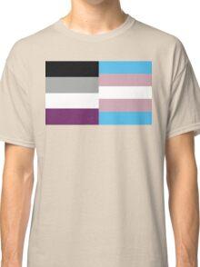 Transgender Asexual Flag Classic T-Shirt
