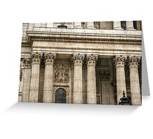 Corinthian Columns and a Relief Sculpture Greeting Card