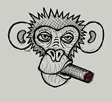 Monkey with cigar by Brett Gilbert