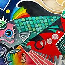 Fish Abstract ( first one )  by Karin Zeller