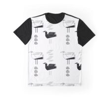 Black and white seagulls Graphic T-Shirt