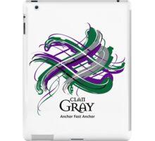 Clan Gray - Prefer your gift on Black/White tell us at info@tangledtartan.com  iPad Case/Skin
