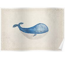 Sleepy Whale Poster