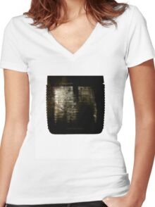 Death Rattle Women's Fitted V-Neck T-Shirt