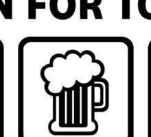 Funny Trumpet Beer Get Lucky Sticker