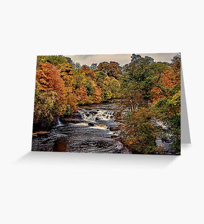 Aysgarth Falls Yorks Dales Greeting Card