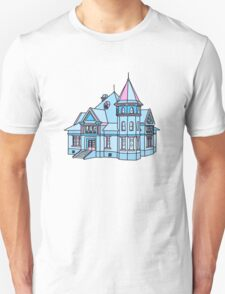 blue and pink victorian house T-Shirt