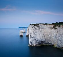 Dawn at Old Harry Rocks by Ian Middleton
