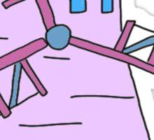 purple simple windmill Sticker