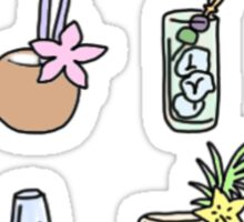 variety cocktail drinks Sticker