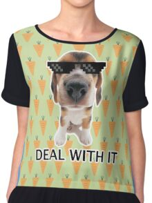 Deal with it pup Chiffon Top