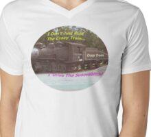 Crazy Train Mens V-Neck T-Shirt