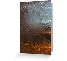 Condensation on Metal Texture Greeting Card