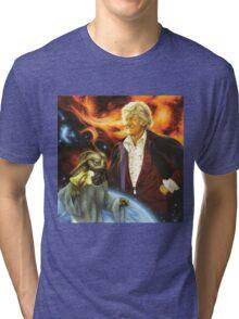 Jon Pertwee Sea Devil Tri-blend T-Shirt