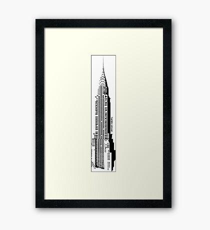 Emblematic Chrysler building Framed Print