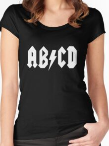 AB/CD White Women's Fitted Scoop T-Shirt