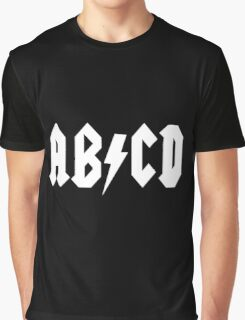 AB/CD White Graphic T-Shirt