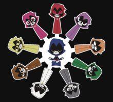 Raven's Emoticlones One Piece - Short Sleeve