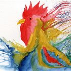 cockerel Abstract by Simon Rudd