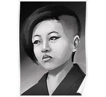 Kim Jong Un as a pretty young girl Poster