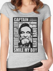 Robin williams tribute  Women's Fitted Scoop T-Shirt