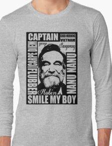 Robin williams tribute  Long Sleeve T-Shirt