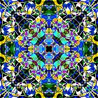 Blue And Gold Mandala by perkinsdesigns