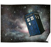 The Tardis In Space Poster