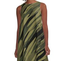Camouflage streaks 23 A-Line Dress